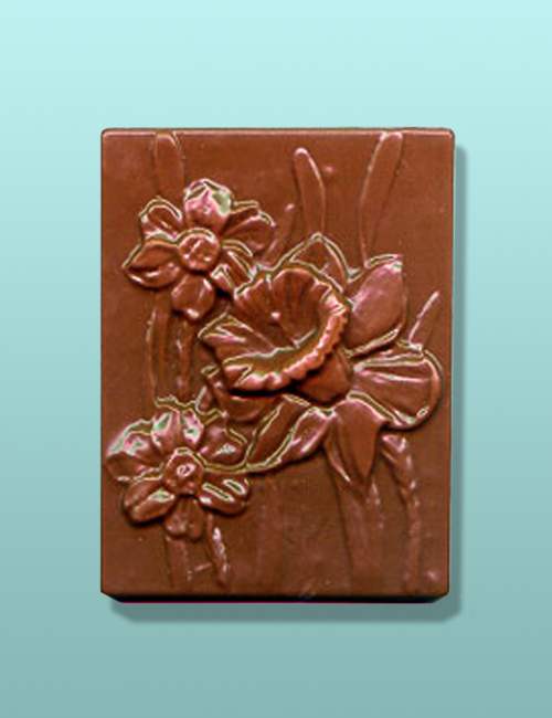Chocolate Daffodil Flower Gift Plaque