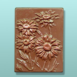 Chocolate Daisy Flower Gift Plaque