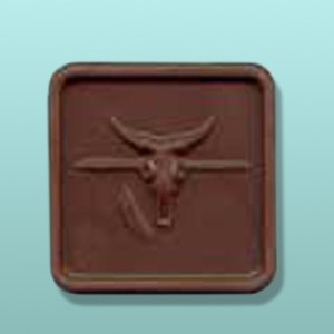 Chocolate Steer Skull Spear
