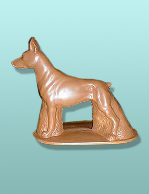 3D Chocolate Doberman Pinscher Dog
