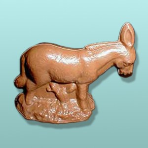 3D Solid Chocolate Donkey