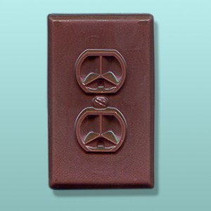 Chocolate Socket Receptacle Plate