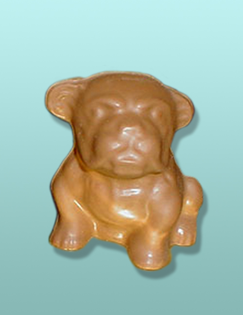 3D Chocolate Large English Bulldog