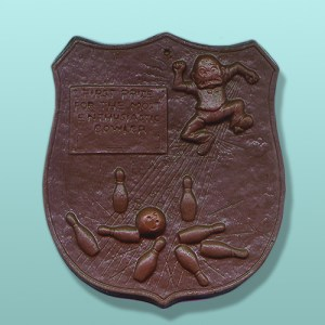 Chocolate First Prize Bowler Plaque