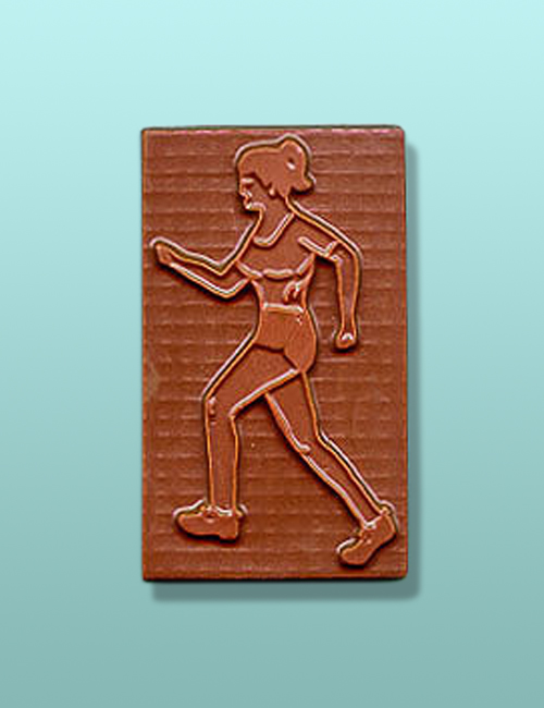 Chocolate Female Jogger Party Favor