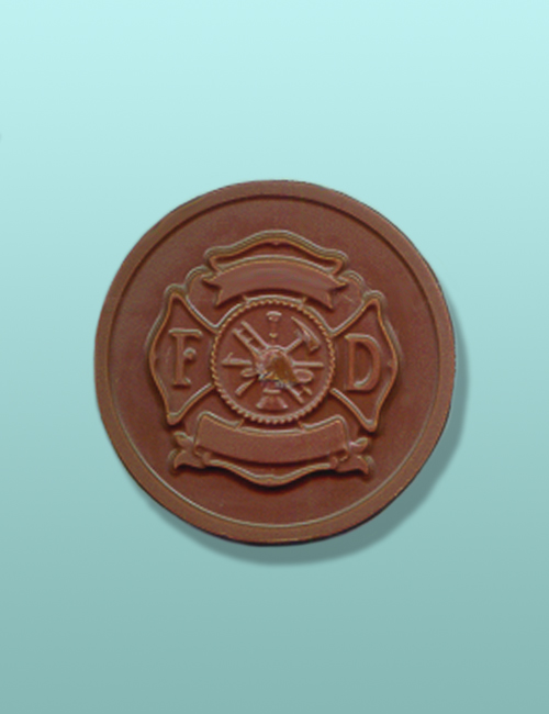 Chocolate Fire Fighter Maltese Medallion