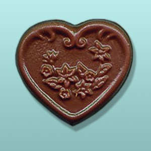Chocolate Floral Heart Favor