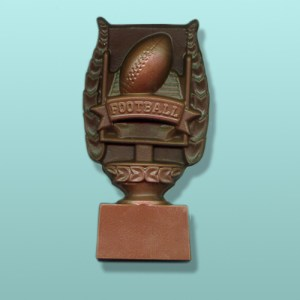 Chocolate Football Trophy Plaque