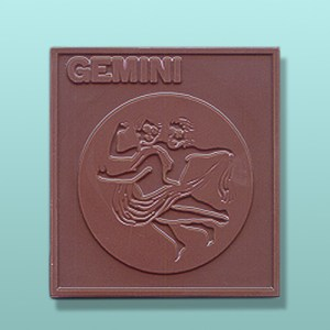Chocolate Gemini Zodiac Plaque