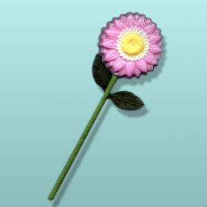 Chocolate Gerbera Daisy Long Stem Favor