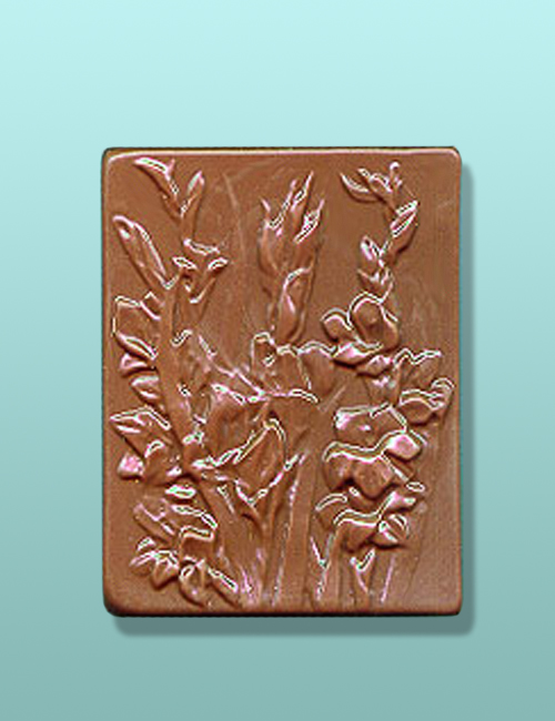Chocolate Gladiola Flower Gift Plaque