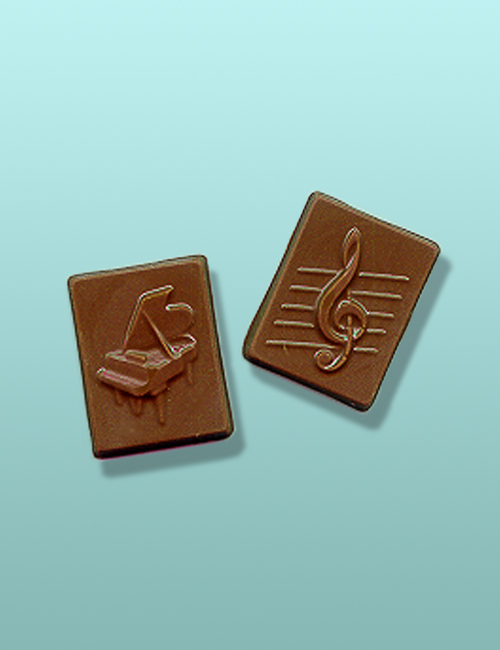 2 pc. Chocolate Grand Piano Mini Favor