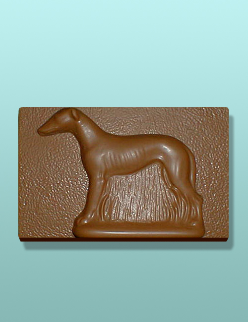 Chocolate Greyhound Dog Flat Plaque