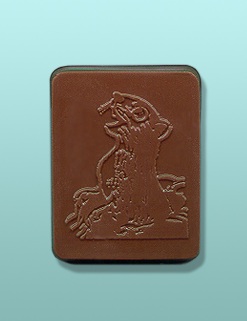 Chocolate Groundhog Party Favor