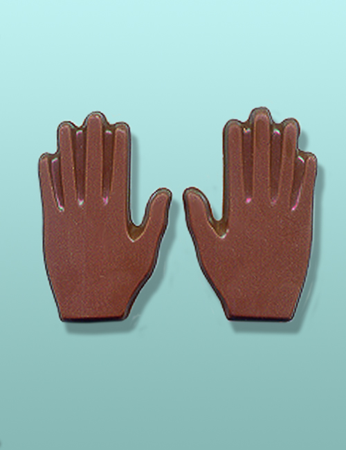 2 pc. Chocolate Hand Mini Favor