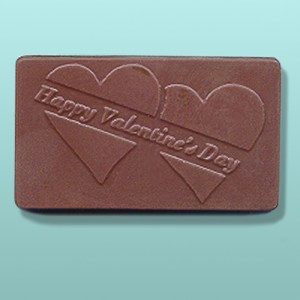 Chocolate Happy Valentines Day Card I