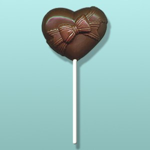Chocolate Heart with Bow Favor