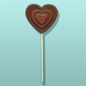 Chocolate Stacked Chocolate Heart Favor