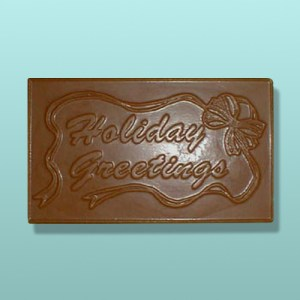 Chocolate Holiday Greetings Plaque