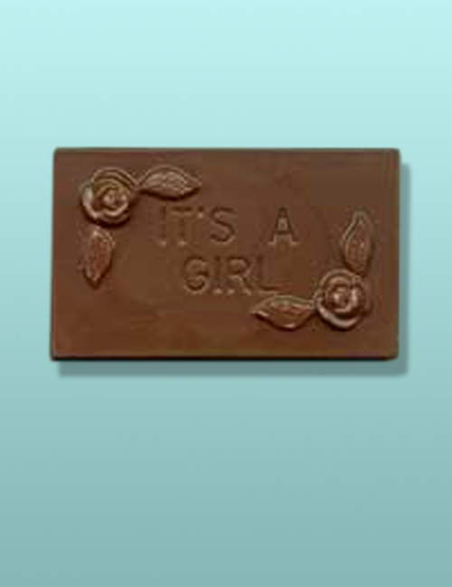 "Chocolate ""It's A Girl"" Mini Card Favor I"