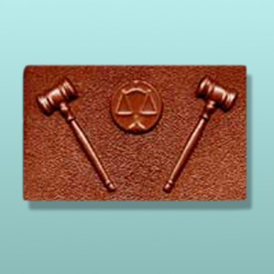 Chocolate Law and Order Plaque