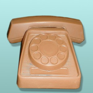 3D Chocolate Desk Large Telephone
