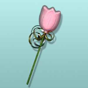 Chocolate Tulip Long Stem Party Favor