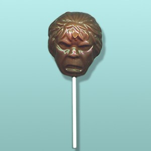 Chocolate Hulk Head Lolly