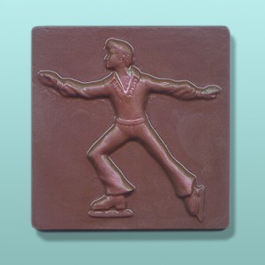 Chocolate Male Figure Skater Plaque