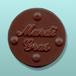 Chocolate Mardi Gras Medal Favor