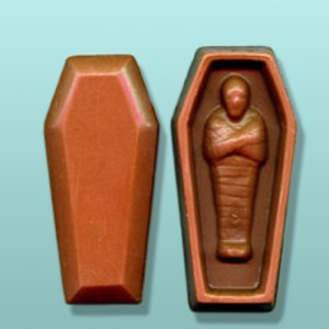 Chocolate Mummy Casket with Lid
