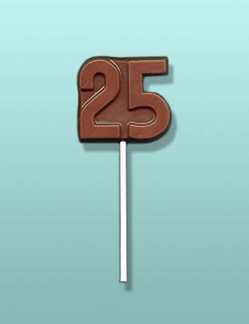 Chocolate Number 25 Party Favor