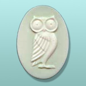 Chocolate Owl Oval Plaque