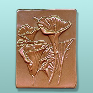 Chocolate Peace Lily Flower Plaque