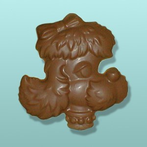 Chocolate Poodle Dog Head Flat Plaque