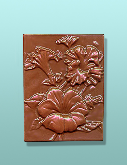 Chocolate Petunia Flower Gift Plaque