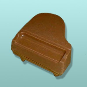 3D Small Chocolate Grand Piano