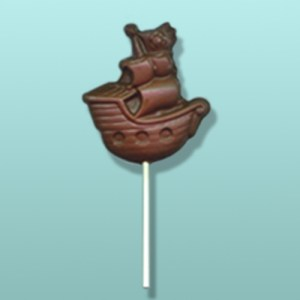 Chocolate Pirate Ship Lolly Favor