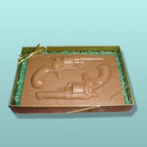 Chocolate Dueling Pistols Plaque