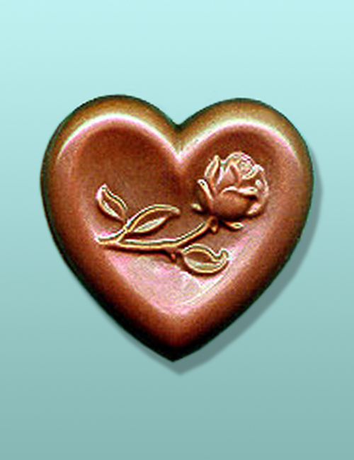 Chocolate Rose on Heart Wedding Favor