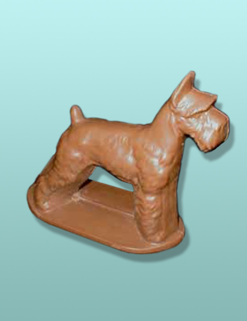 3D Chocolate Schnauzer Dog