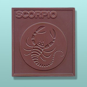 Chocolate Scorpio Zodiac Plaque
