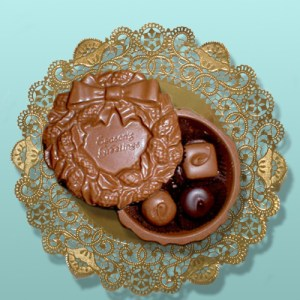 Season's Greetings Wreath Chocolate Box