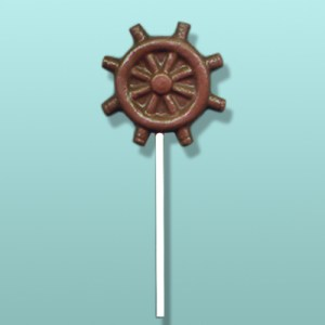 Chocolate Ship Wheel Lolly Favor