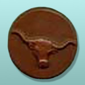 Chocolate Steer Round Favor