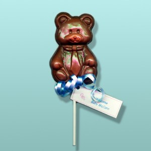 Chocolate Teddy Bear Tie Party Favor