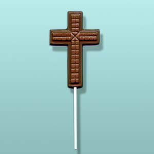 Chocolate Tiled Cross Lolly Favor
