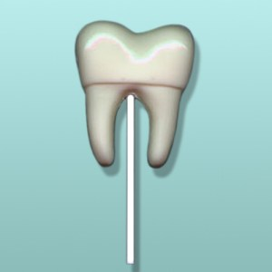 Chocolate Tooth Molar Lolly