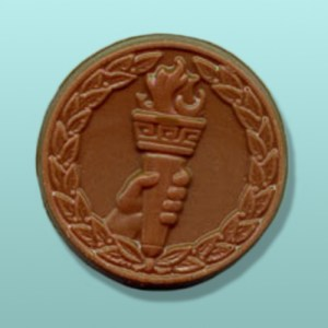 Chocolate Torch Medal Party Favor