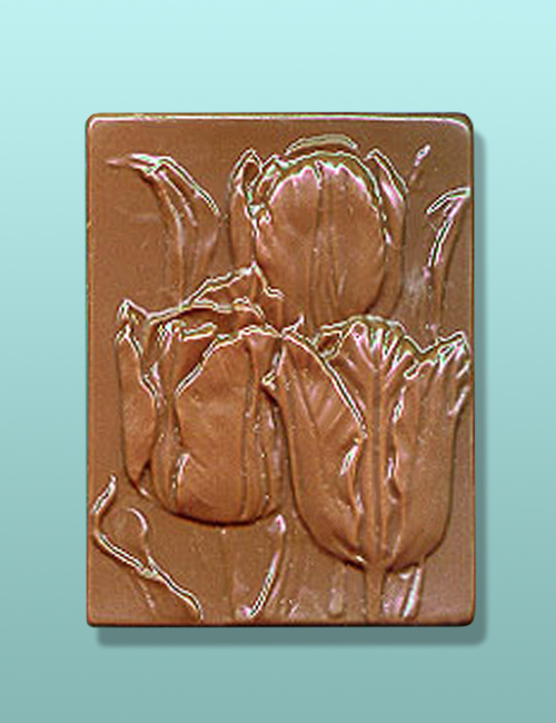Chocolate Tulip Flower Gift Plaque